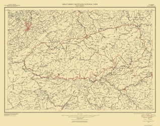 Old Tennessee Topographic Map Prints Maps Of The Past