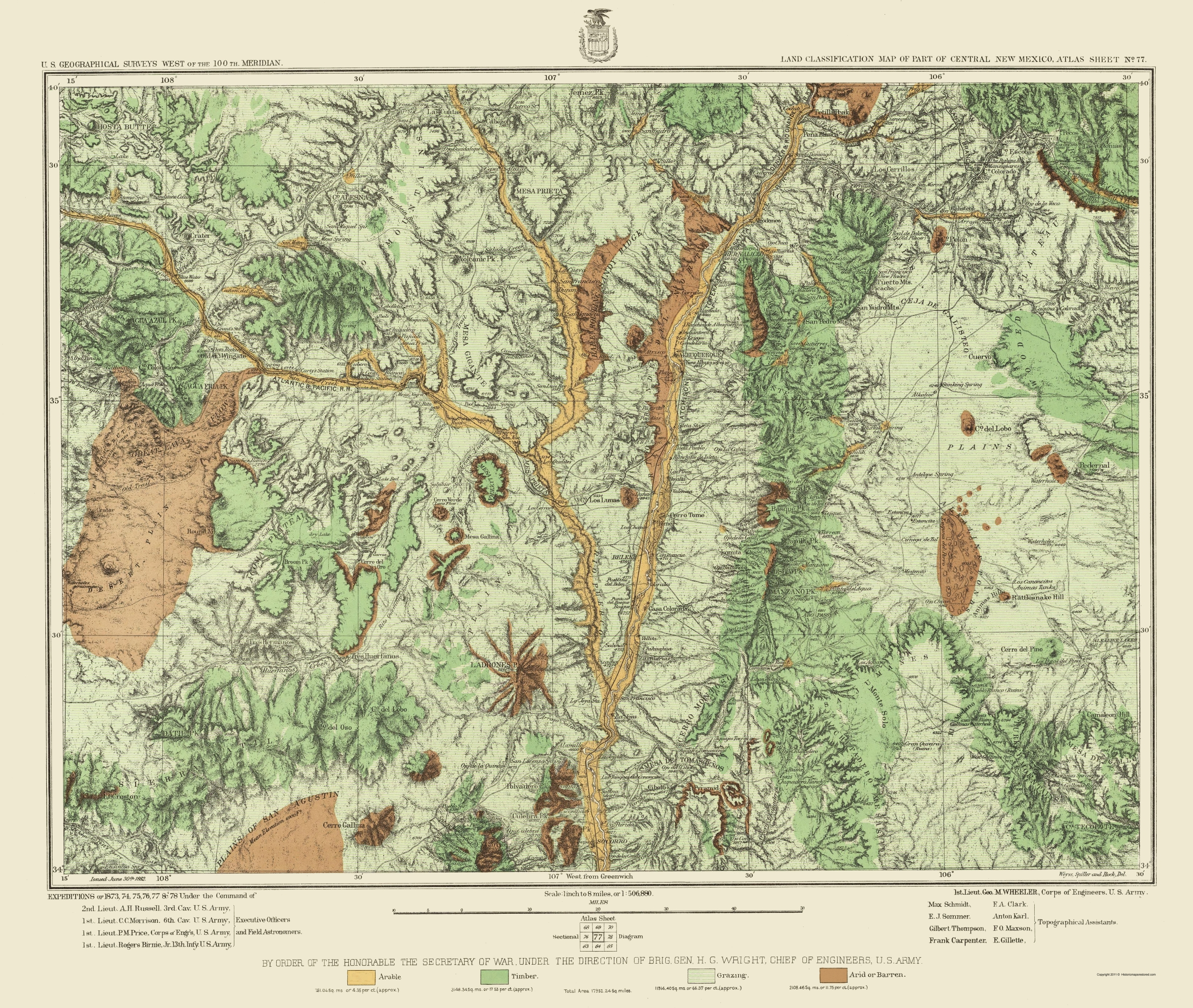 Old Topographical Map New Mexico - New mexico elevation map
