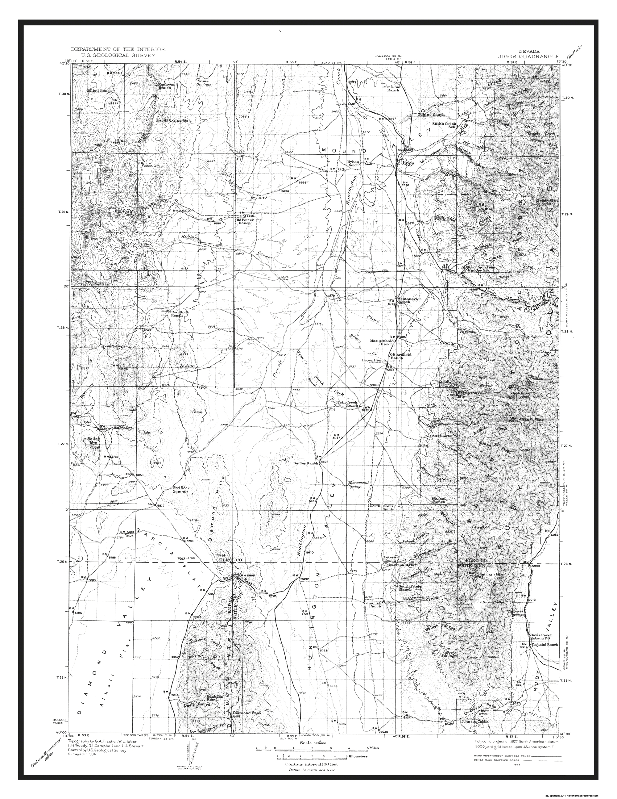 Topographical Map - Jiggs Nevada 1935 on elko nevada winter, north fork nevada, wood hills nevada, craigslist elko nevada, abandoned nevada, mulberry woods nevada, ely nevada, lander nevada, west wendover nevada, elko nevada map, jiggs nevada, nye county nevada, elko nevada attractions, carlin nevada, aerial view of elko nevada, rixie nevada, elko nevada school, white pine county nevada, wells nevada, deeth nevada,