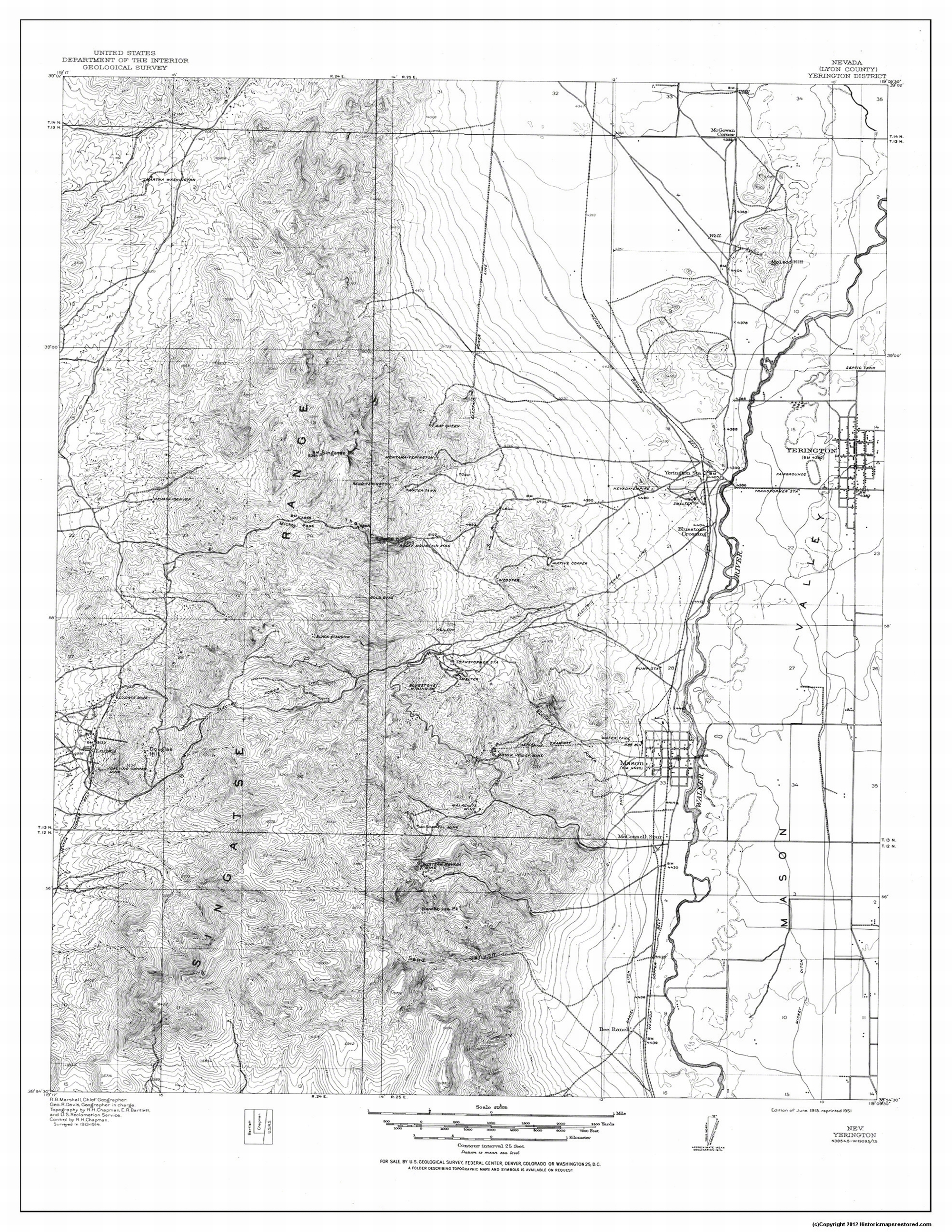 Topographical Map Print - Yerington District Nevada - USGS 1915 - 23 on alamo nv map, winnemucca nv map, california nv map, summerlin south nv map, mound house nv map, vya nv map, needles nv map, las vegas nv map, stead nv map, silver peak nv map, gardnerville nv map, mason valley nv map, coyote springs nv map, st. george nv map, reno nv map, panaca nv map, valley of fire nv map, kingston nv map, duckwater nv map, pahrump nv map,