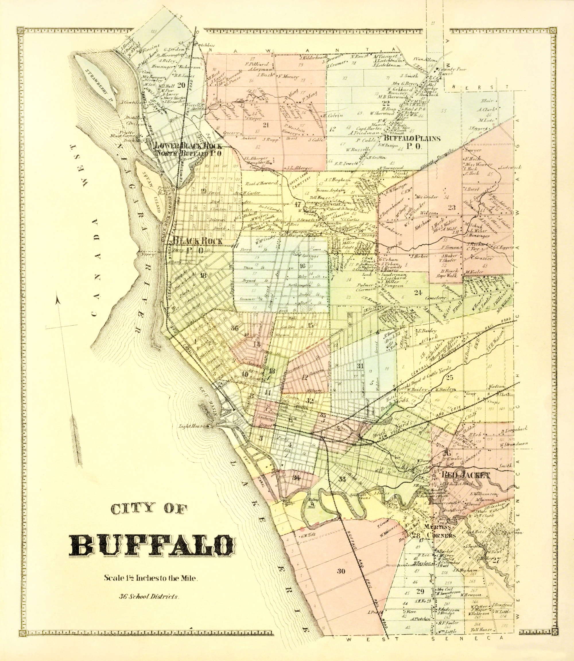 Buffalo New York Landowner - Stone 1866 - 23 x 26.44 on wind point map, the atlanta map, niagara falls map, st francis map, watertown map, rochester map, utica map, yellowstone river map, cincinnati map, toledo map, boston map, new york map, cooperstown ny on a map, fair grove map, indianapolis map, grand island map, college at brockport map, jacksonville map, blooming grove map, town of wheatfield map,