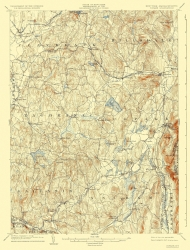 Old Massachusetts Topographic Map Prints Maps Of The Past