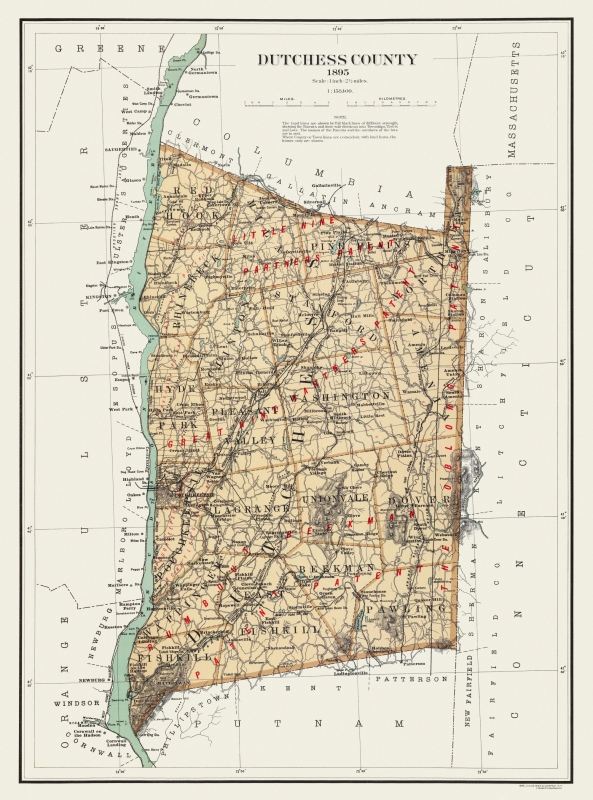 Old County Map - Dutchess New York Landowner - 1895 - 23 x 31 on new york state wind map, new york state supreme court building, ny state elevation map, new york state plat, new york state poverty map, new york state map printable, new york state satellite map, new york state utility map, new york state pipeline map, mountains of new york map, new york state transit map, new york state aquifer map, new york state and vermont border map, wa state topographic map, new york state climate map, northern district of iowa map, new york state license plates, new york state county map, new york state map large, new york state geologic map,