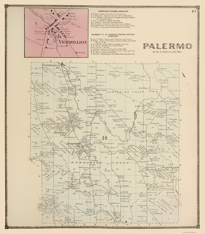 Palermo New York Landowner - Stone 1866 - 23 x 26.21 on taormina to palermo map, palermo north dakota road, palermo soho argentina maps, palermo sights to see map, palermo ny map, nd map, palermo maine map, palermo airport map, palermo north dakota train, palermo nd, crema italy on a map, palermo italy,
