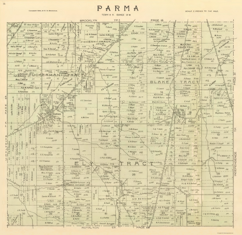 Parma Ohio Landowner - Stranahan 1903 - 23 x 27.09 on major cities of ohio, large maps of ohio, map of northeast ohio, zip code of ohio, state map of ohio, demographics of ohio, airports of ohio, map of northern ohio, emergency services of ohio, weather of ohio, driving map of ohio, map of cincinnati ohio, sights of ohio, simple map of ohio, ward map of ohio, topographic map of ohio, us state map ohio, water of ohio, index of ohio, mineral map of ohio,