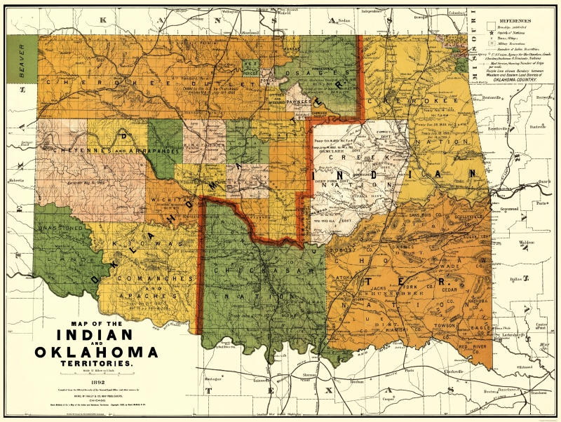 Old State Map - Oklahoma Indian Territory - Rand McNally 1892 - 23 on old indian home, old indian car, british india map, old indian calendar, oval world map, ancient india map, old compass vector, medieval india map, old indian flag, old indian area, old indian painting, telugu india map, old indian water, western ghats india map, old indian art, old plat maps of indiana, old indian mat, old indian film, early india map,