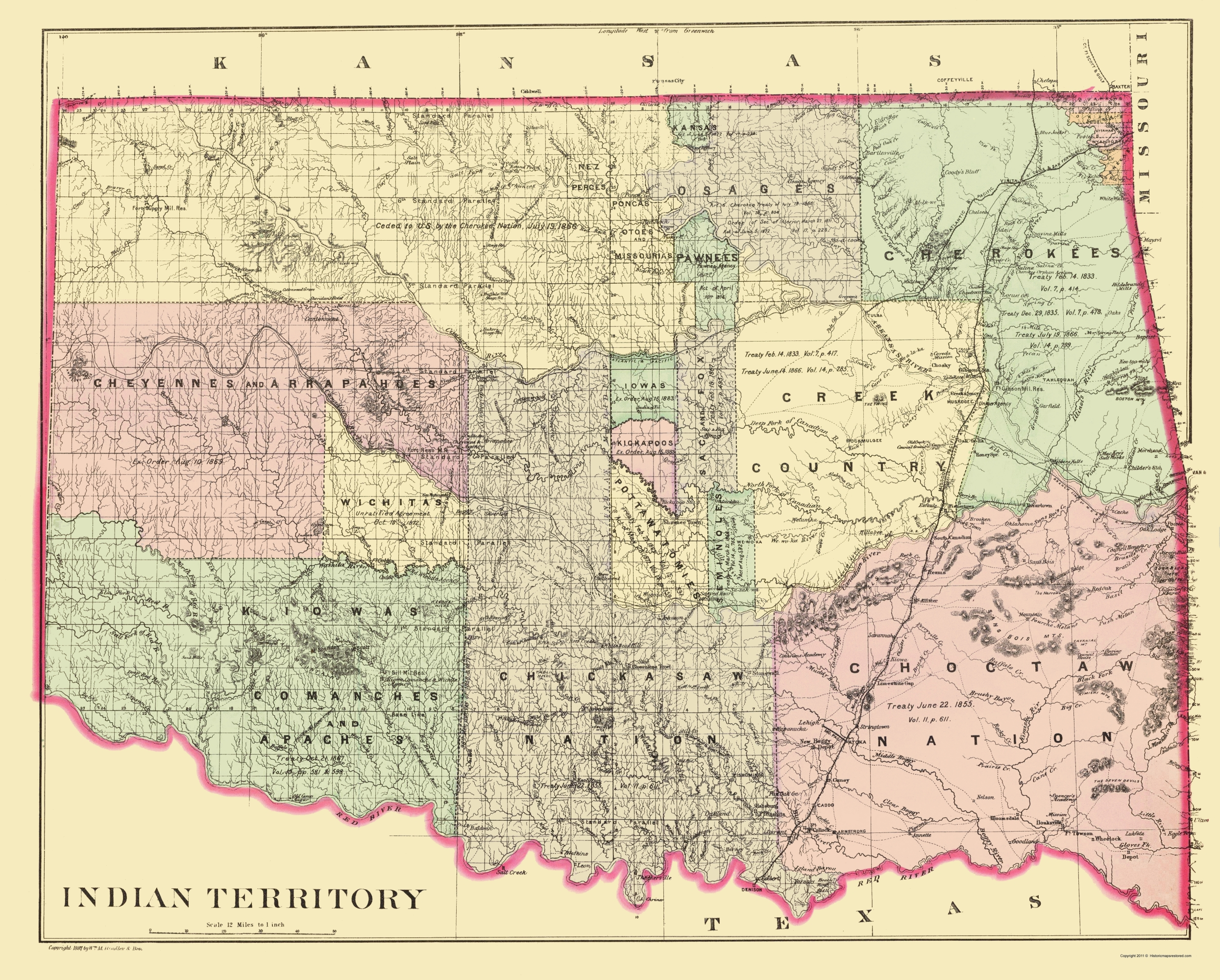 Old State Map - Oklahoma Indian Territory - dley 1887 - 23 x 28.63 on united states and its territories, united states overseas territories, map of puerto rico, map of usa with state boundaries, map of the first 16 states, map of norway territories, number of us territories, map with capitals of australia, map of us sales, map of missouri and bordering states, map of israel territories, us map territories, map of ancient roman territories, map of usa in 1783, map of us in late 1800s, map of colonial territories, map of mexico, map of u.s. possessions, map united states 1890, map of cherokee territories,