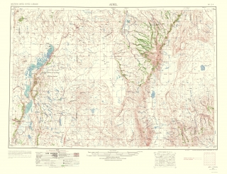 Adel Oregon Quad Usgs 1963 23 X 30 02