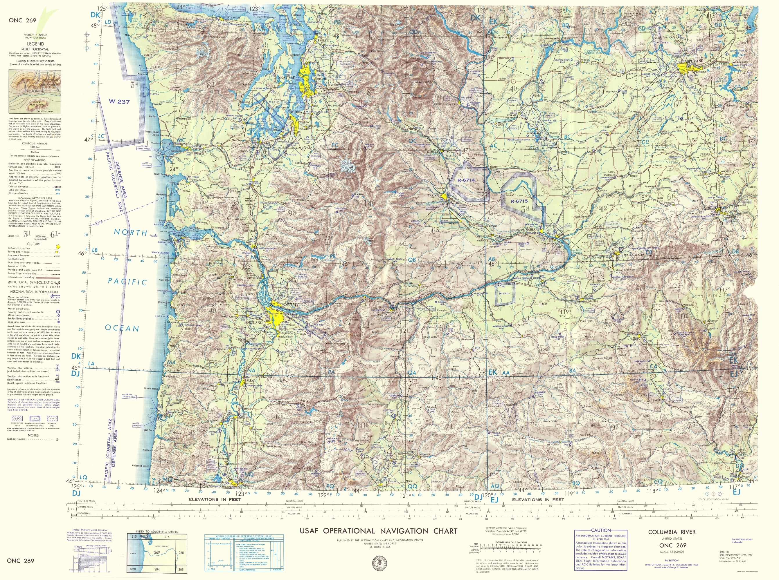 Topographical map columbia river 1962 touch to zoom sciox Choice Image