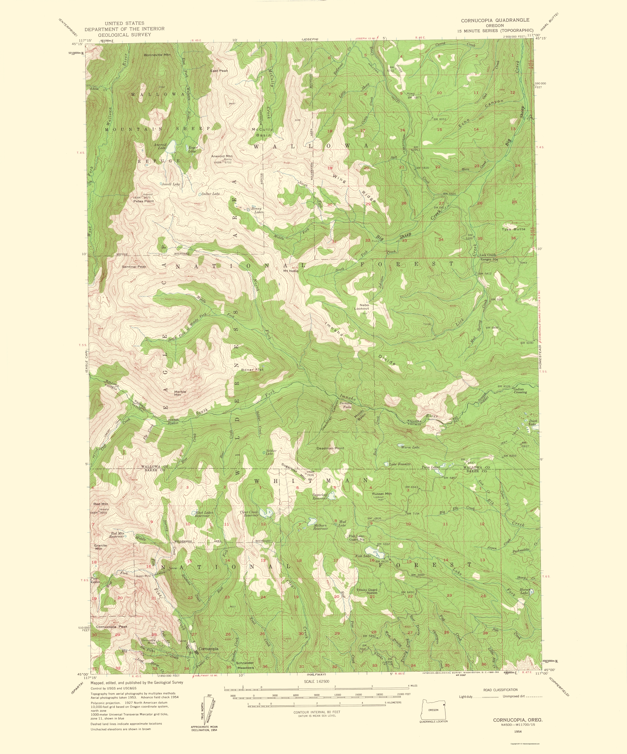 Halfway Oregon Map.Topographical Map Print Cornucopia Oregon Quad Usgs 1961 23 X 27 65
