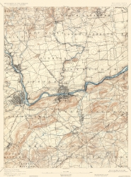 Old Pennsylvania Topographic Map Prints Maps Of The Past - Topographical map of pa