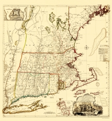 Old War Map French and Indian War 1756-23 x 34.15 Lake George Battle