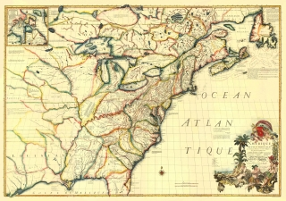 Revolutionary War Maps Maps Of The Past - Map of colonial us