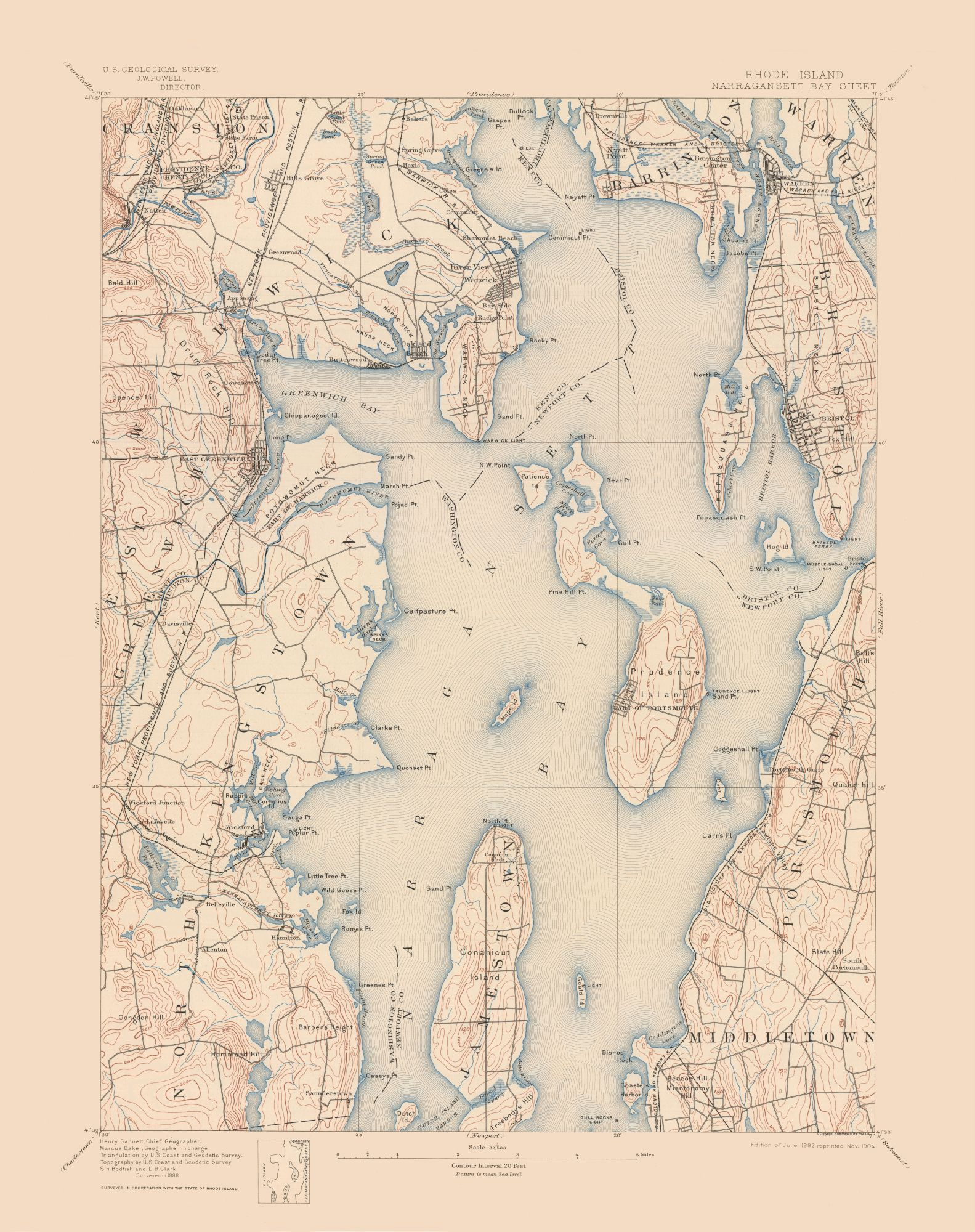 Topographic Map Rhode Island.Historical Topographical Maps Narragansett Rhode Island Quad