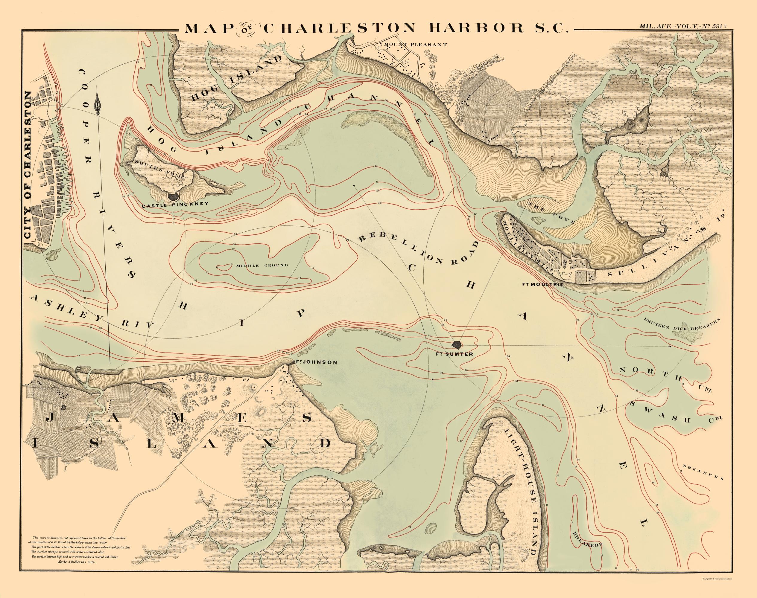 Resultado de imagen de Map Charleston 1860
