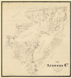 Cram 1875-23 x 31.25 Texas