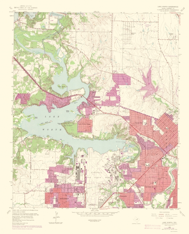 map of lake worth tx Old Topographical Map Lake Worth Texas 1969 map of lake worth tx