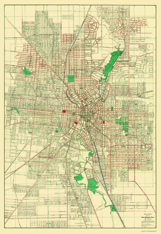 San Antonio Road Map