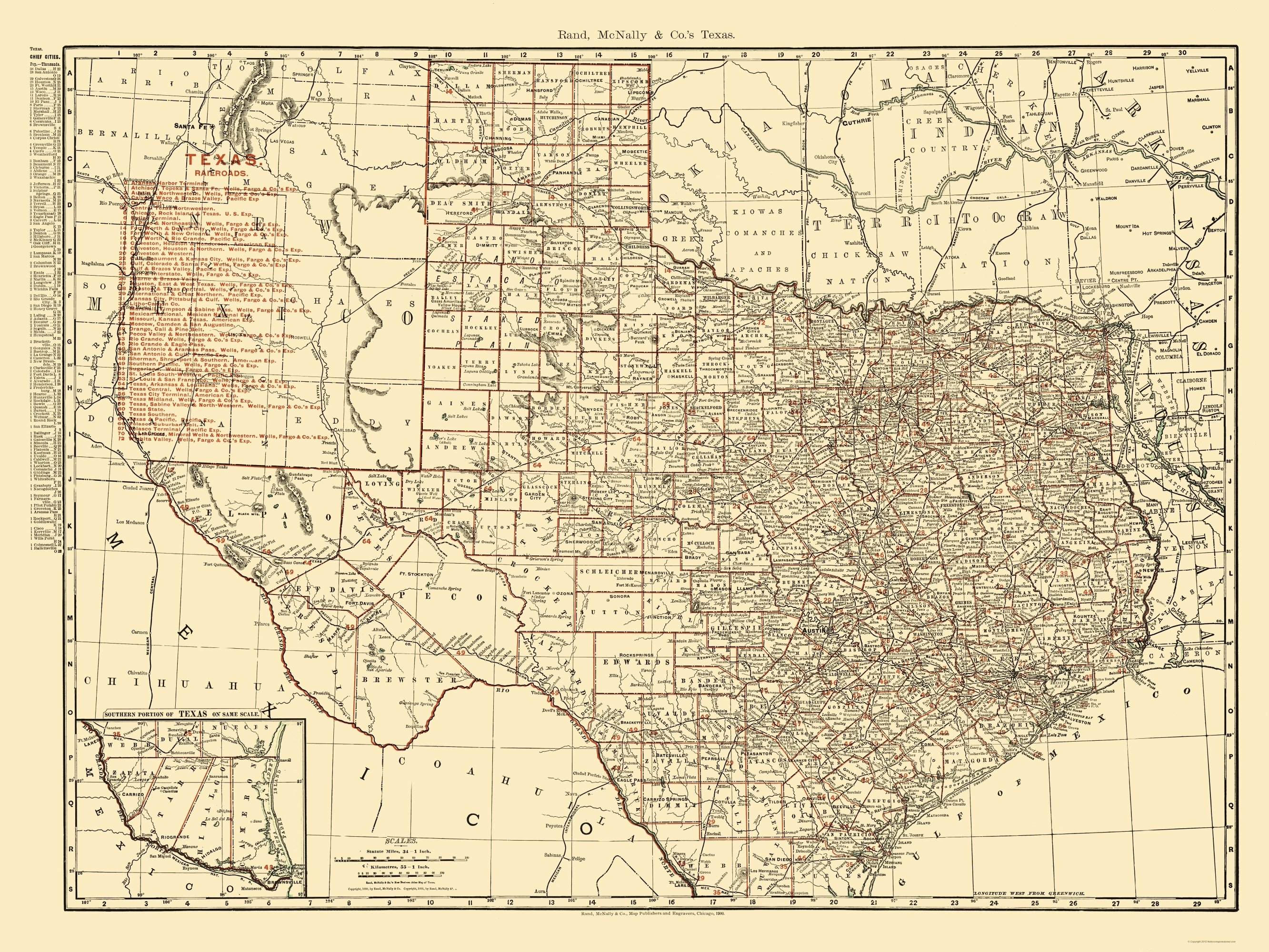 Old Railroad Map Texas State Railroads - State map of tx
