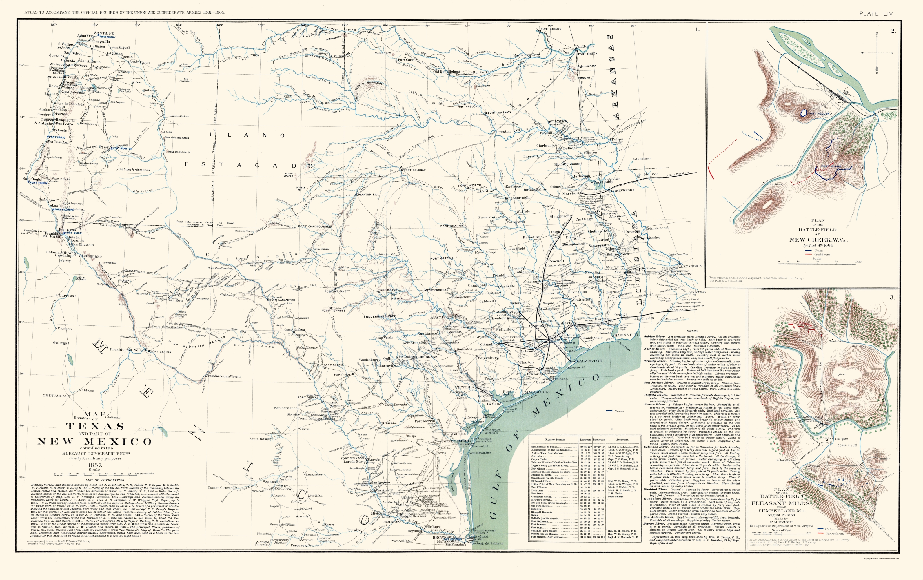 Map Of Texas New Mexico.Old State Map Texas New Mexico Us War Dept 1857 23 X 36 63