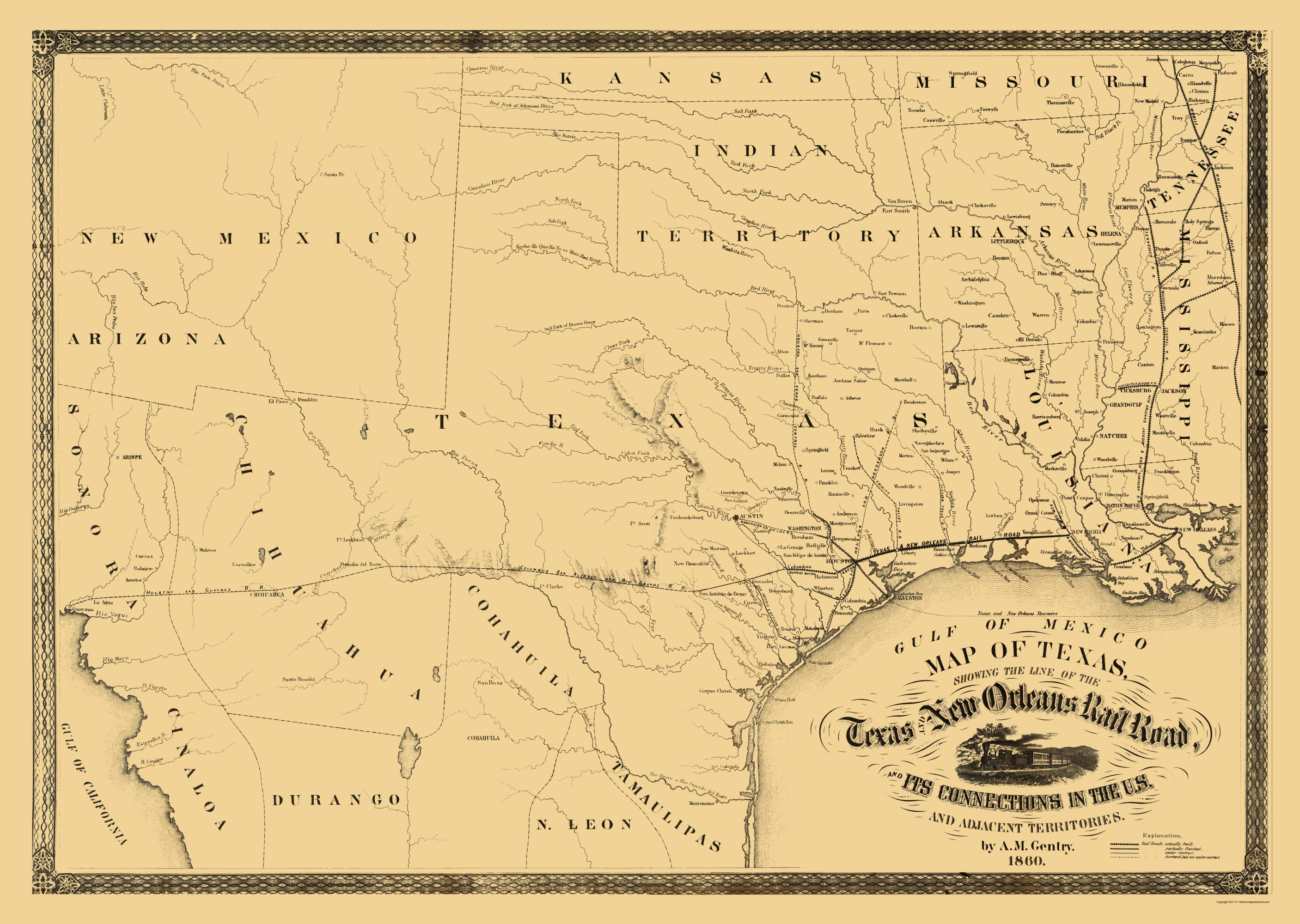 Old Louisiana Railroad Maps Maps of the Past