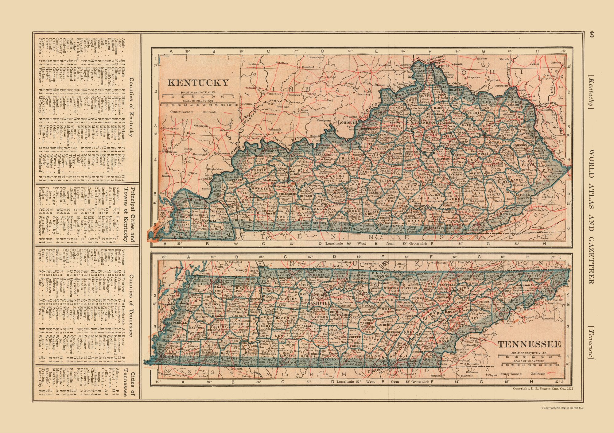 Old State Map - Kentucky - Tennessee - Reynold 1921 - 32.59 x 23 on kentucky time zone by county, alabama map by county, kentucky co map, memphis map by county, wisconsin map by county, cincinnati map by county, oklahoma map by county, minnesota map by county, kentucky on us map, kentucky county map atlas, kentucky state highways, virginia map by county, indiana map by county, mississippi map by county, iowa map by county, kentucky county map book, utah map by county, ky map by county, washington map by county, tennessee map by county,