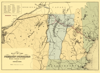 Old New Hampshire Railroad Maps Maps of the Past