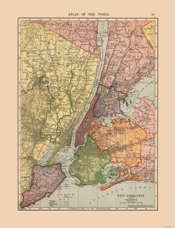 New York City New York - Hammond 1910 - 23 x 29.95 Map Of New Yorkcity on map of chicago, map of el paso, map of charleston, map of detroit, map of westchester, map of newport, map of attractions nyc, map of syracuse, map of baltimore, map of boston, map of washington, map of bar harbor, map of madrid, map of sydney, map of london, map of yonkers, map of tehran, map of usa, map of amsterdam,
