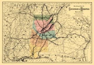 Railroad Map Of Georgia.Old Georgia Railroad Maps Maps Of The Past