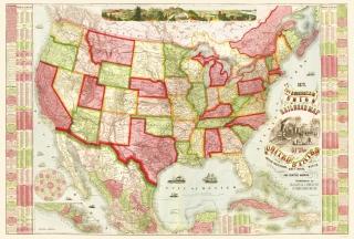 Historic Railroad Map Prints Maps Of The Past - 1889 us railroad map