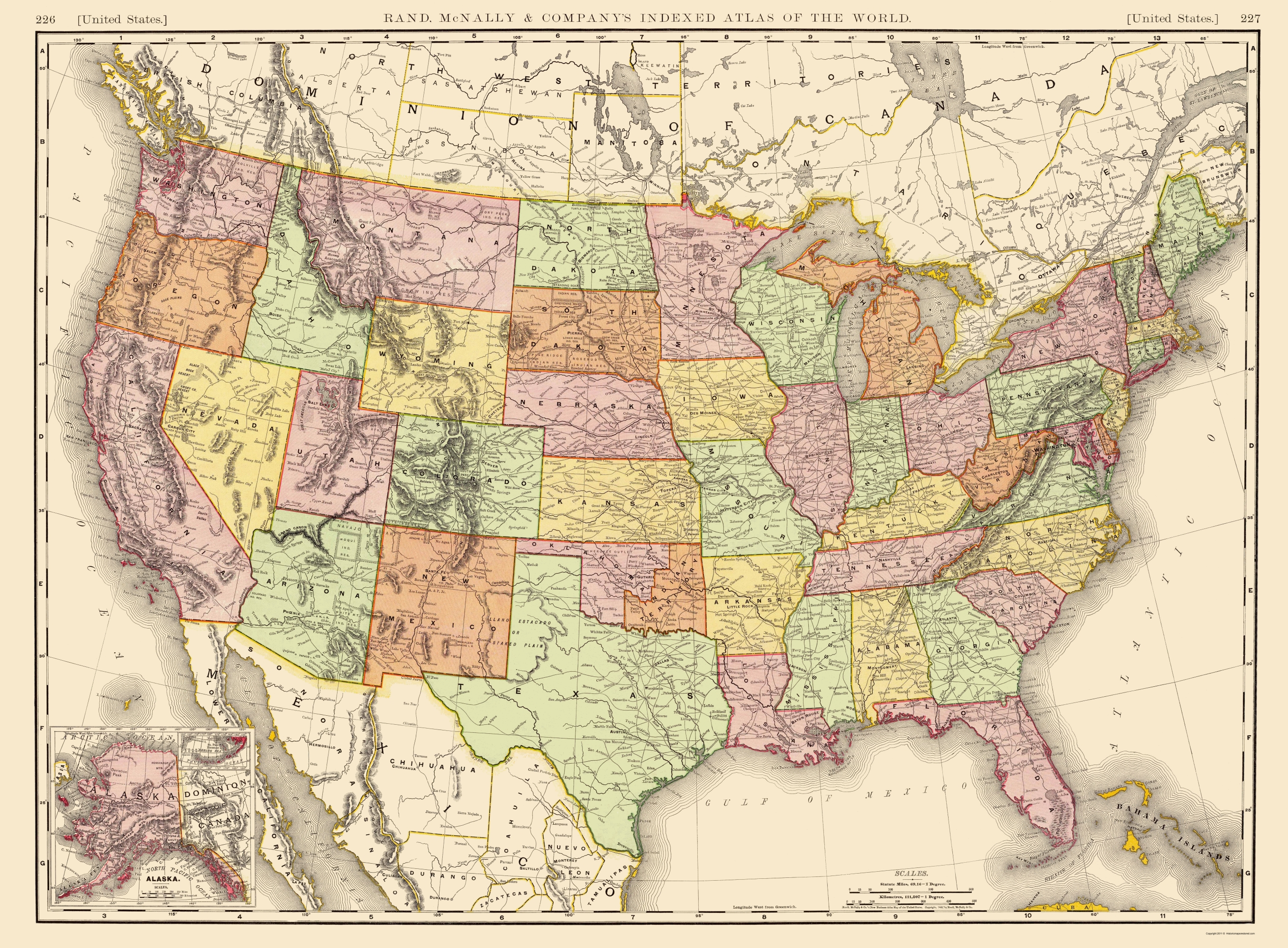 United Sates Map Old State Map   United States of America 1897 United Sates Map