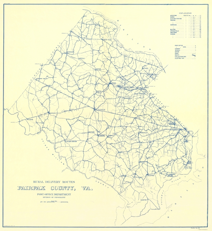 Old Travel Map - Fairfax County Rural Delivery Routes - USPS 1912 - on map of appomattox county, map of amelia county, map of chicago county, map of greenwood county, map of rockbridge county, map of mccurtain county, map of freeborn county, map of prince william county schools, map of clarke county, map of new jersey county, map of renville county, map of vinton county, map of garvin county, map of grand isle county, map of woodford county, map of le sueur county, map of mahnomen county, map of independence county, map of rappahannock county, map of west marin county,