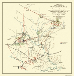 Historic American Civil War Battle Map Prints Maps Of The Past - Fort sumter on us map
