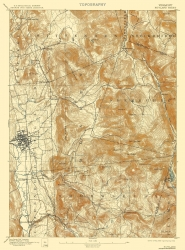 Old Vermont Topographic Map Prints | Maps of the Past